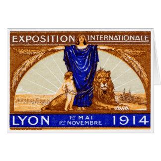Poster internacional 1914 de la expo de Lyon Tarjeta Pequeña