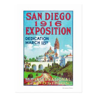 Poster internacional de la exposición de San Diego Postal