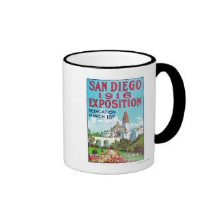 Poster internacional de la exposición de San Diego Tazas De Café