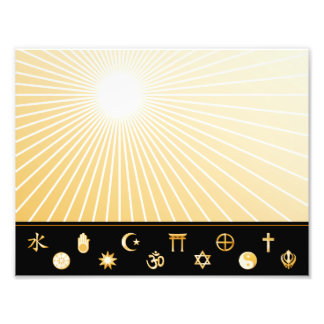 Poster internacional de la fe cojinete