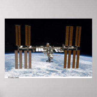 Poster internacional ISS de la estación espacial
