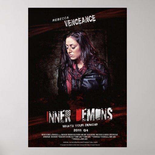 Poster interno de Rebecca de los demonios