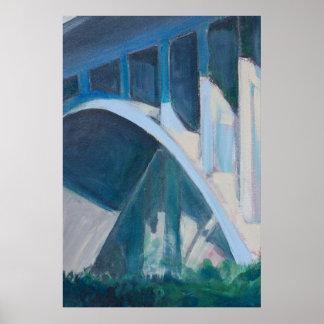 Poster intrépido de la bella arte del puente