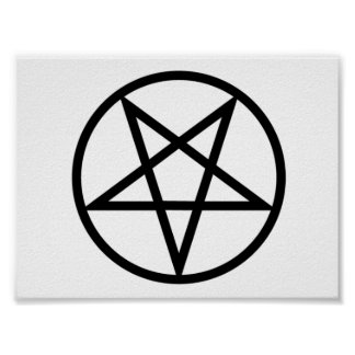 Poster invertido del Pentagram