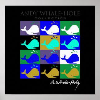 Poster invertido el panel del color de Andy Póster