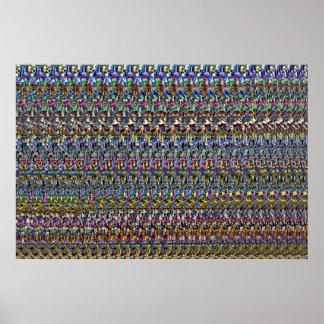 """Poster """"invisible"""" de ojo mágico 36"""" del ® 3D x"""