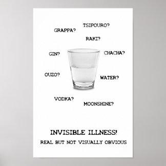 Poster invisible del líquido de la enfermedad