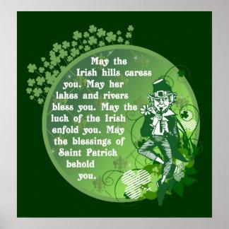 Poster irlandés $25,00 de la bendición