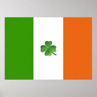 Poster irlandés de la bandera
