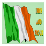 Poster irlandés de la bandera del día de St Patric