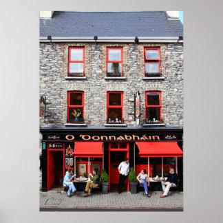 Poster irlandés de la barra de O Donnabhain