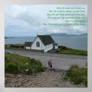 Poster irlandés de la bendición - condado Kerry