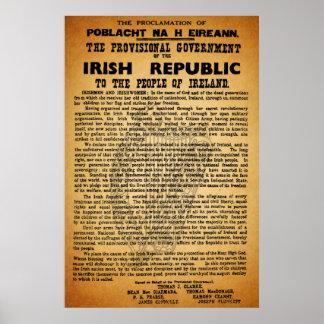 Poster irlandés de levantamiento 1916 de la procla
