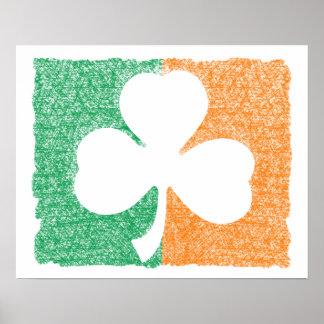 Poster irlandés del personalizado del trébol