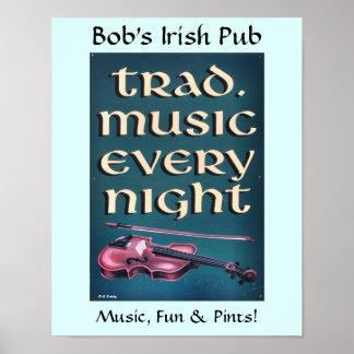 Poster irlandés del Pub