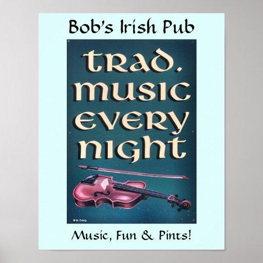 Poster irlandés del Pub Póster