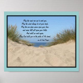 Poster irlandés del rezo de las dunas de arena