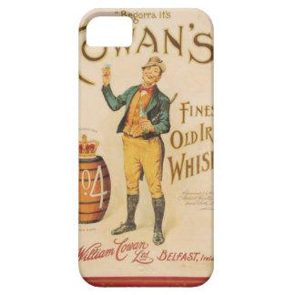 Poster irlandés del whisky de Cowan del vintage iPhone 5 Fundas