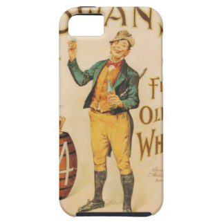 Poster irlandés del whisky de Cowan del vintage iPhone 5 Cobertura