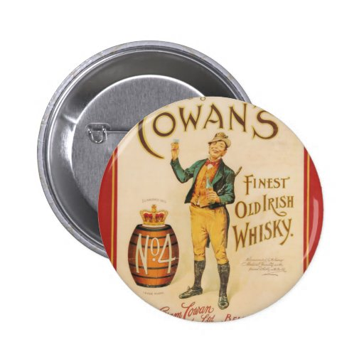 Poster irlandés del whisky de Cowan del vintage Pin