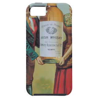 Poster irlandés del whisky del vintage original, iPhone 5 Case-Mate cárcasa