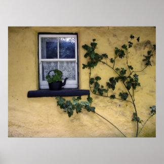 poster irlandés viejo de la ventana