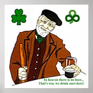Poster irlandés viejo del bebedor