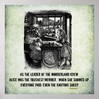 Poster irónico de Alicia (en el país de las maravi