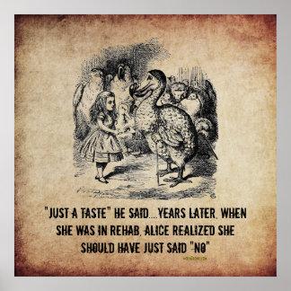 Poster irónico de la rehabilitación de Alicia (en