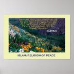 Poster islámico (religión del Islam de la paz)