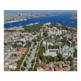 Poster: Istanbul - Sultanahmet and Bosphorus Poster