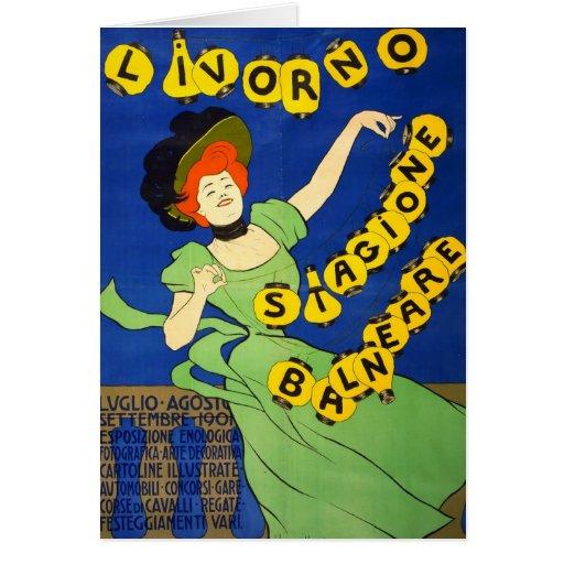 Poster italiano 1901 del viaje tarjetón