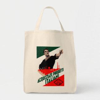 Poster italiano de 1925 productos de la compra bolsa tela para la compra