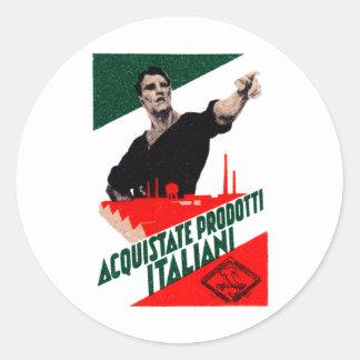 Poster italiano de 1925 productos de la compra pegatina redonda