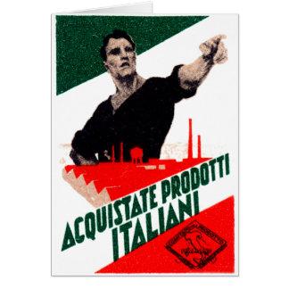 Poster italiano de 1925 productos de la compra tarjeta de felicitación