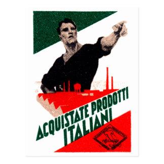 Poster italiano de 1925 productos de la compra tarjeta postal
