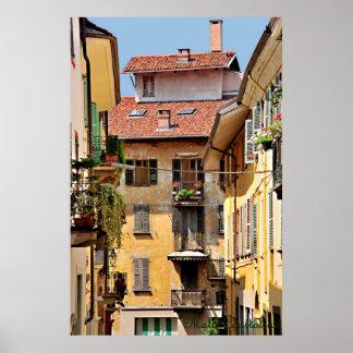 Poster italiano de los balcones