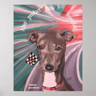 Poster italiano del perro de la herencia