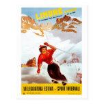 Poster italiano del viaje de Limone Piemonte del Postal