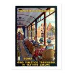Poster italiano del viaje de los años 20 de Roma d Postales