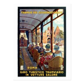 Poster italiano del viaje de los años 20 de Roma Postal