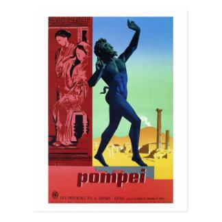 Poster italiano del viaje de Pompeya del vintage Tarjeta Postal