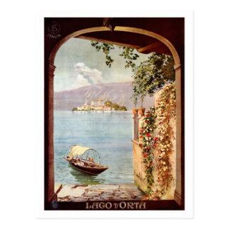 Poster italiano del viaje del d'Orta de Lago de lo Postal