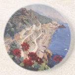 Poster italiano del viaje del vintage de Amalfi Na Posavasos Manualidades