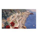 Poster italiano del viaje del vintage de Amalfi Na Plantillas De Tarjetas Personales
