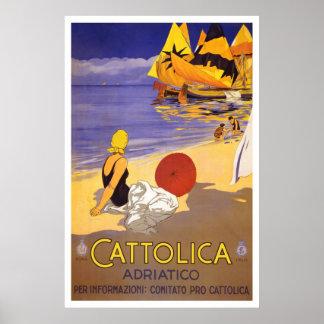 "Poster italiano del viaje del vintage de ""Cattolic"