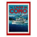 """Poster italiano del viaje del vintage de """"Lago di  Tarjeta De Felicitación"""