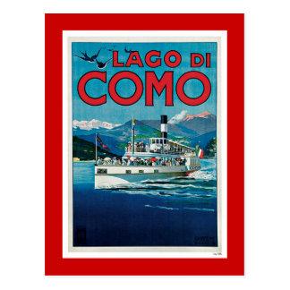 """Poster italiano del viaje del vintage de """"Lago di  Postales"""