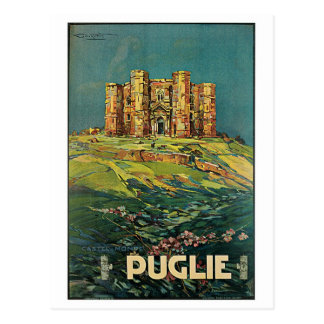 """Poster italiano del viaje del vintage """"de Puglie Postal"""