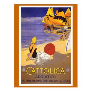 Poster italiano del viaje del vintage de tarjeta postal